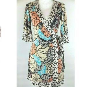Diane von Furstenberg DVF Renny Silk Wrap Dress